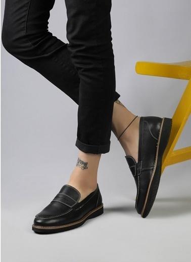 MARTINETTO Hakiki Deri Ayakkabı Siyah